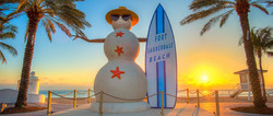 Sandman Sculpture on Fort Lauderdale