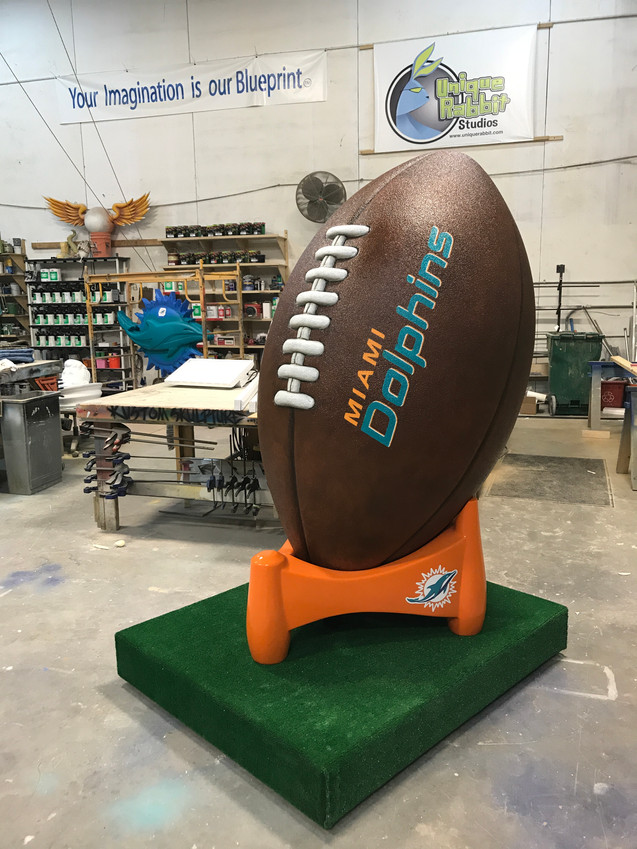 Miami Dophins Giant Football Photo Op