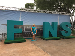 Miami Dolphins Giant Letters