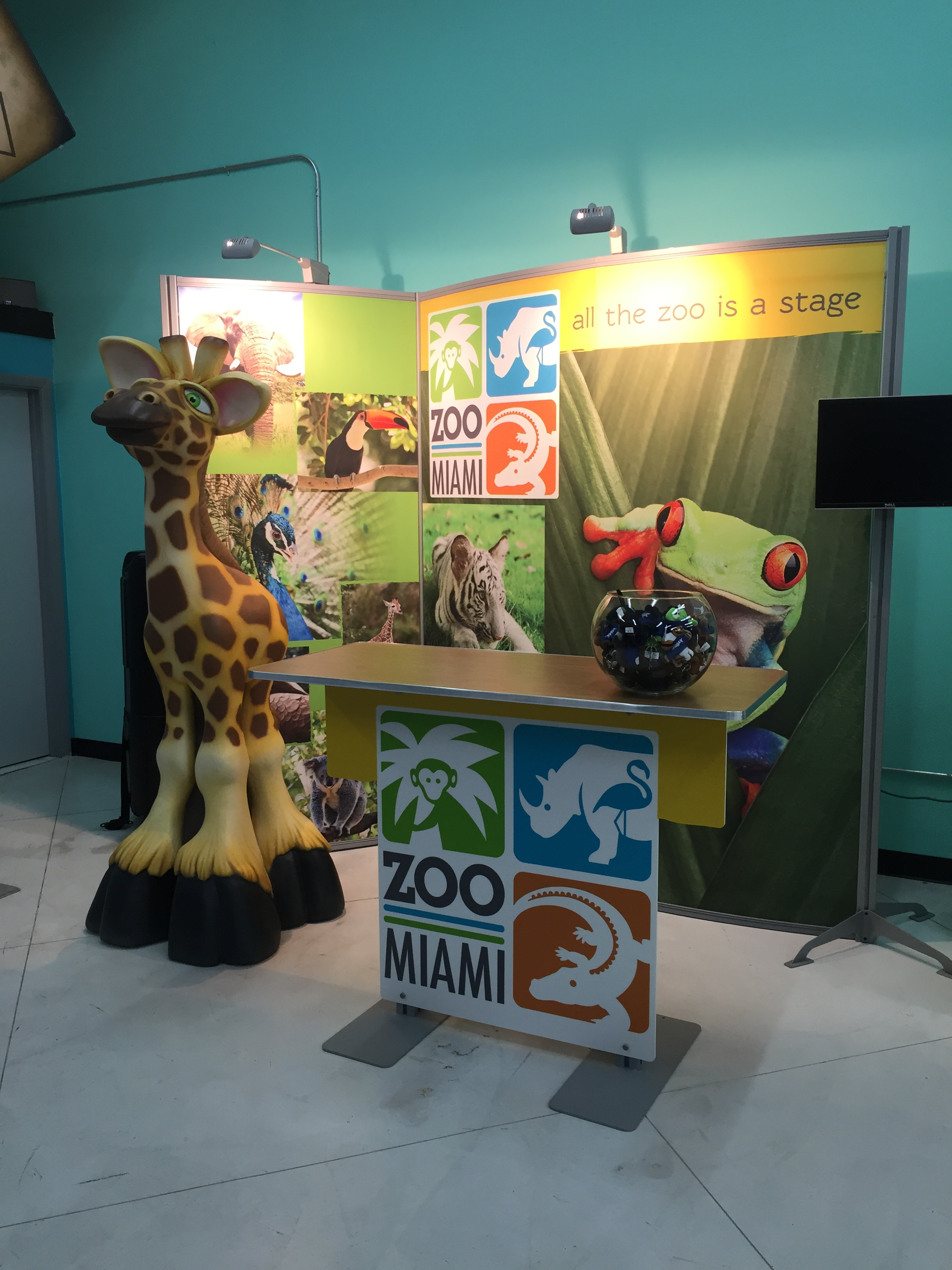 Miami Zoo Themed Stand Booth