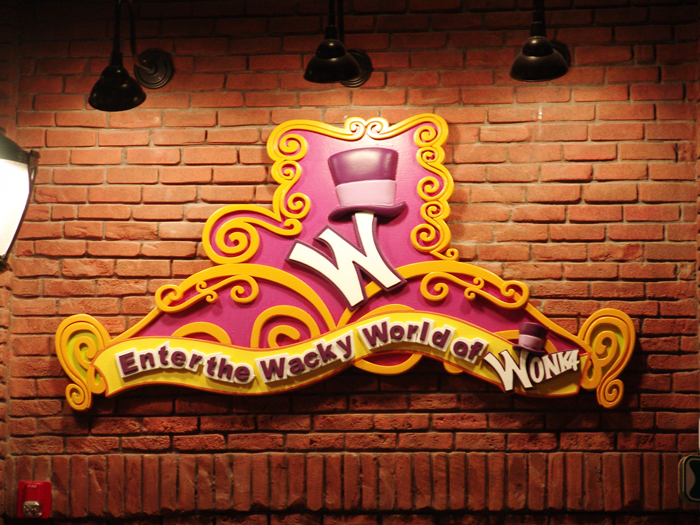 Willy Wonka Sign Brand