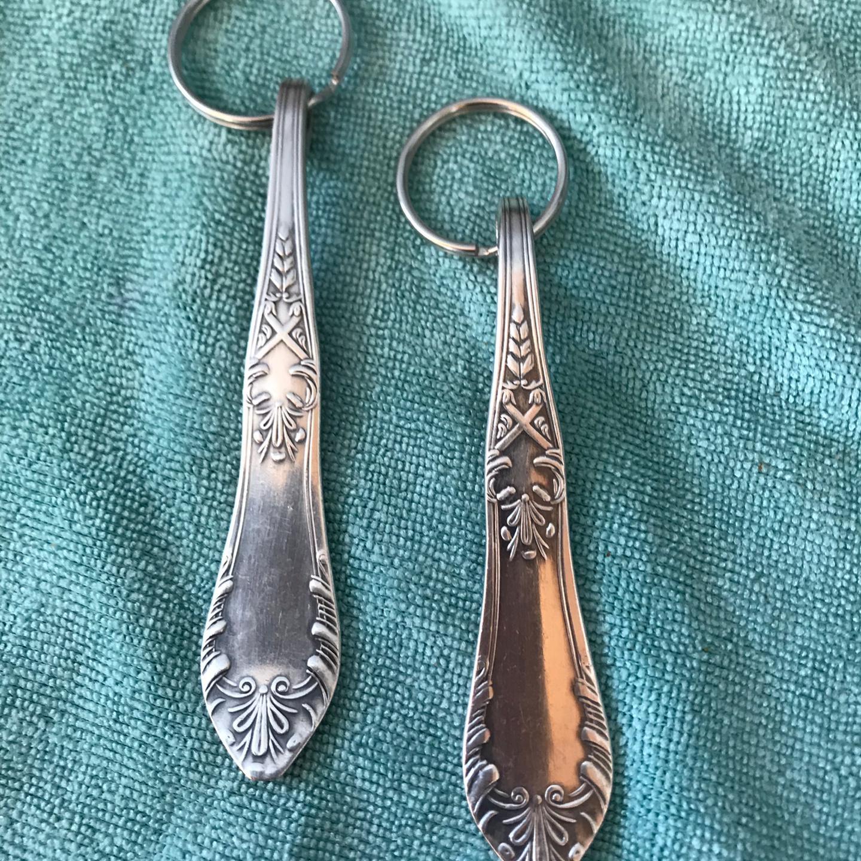 Schlüsselanhänger aus Silberschmuck
