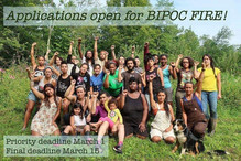 Applications are open for BIPOC FIRE!
