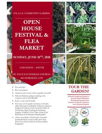 Open House & Flea Market to Benefit P.E.A.C.E. Garden