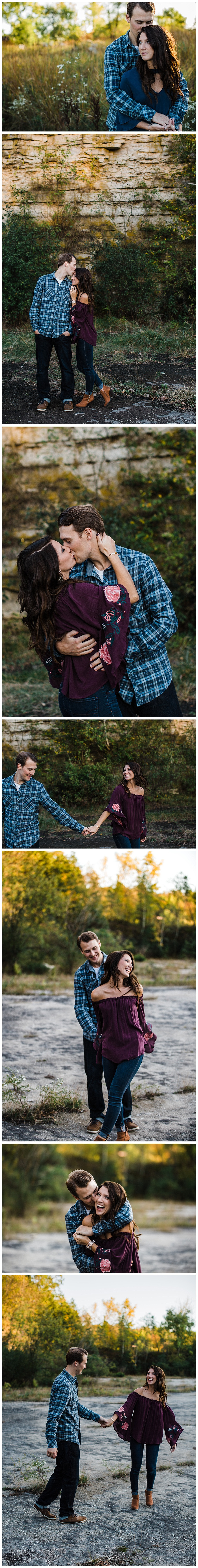 high cliff state park engagement appleton photographer