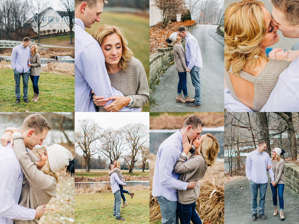 Winter Engagement Session at Oneida Country Club - Green Bay Photographer