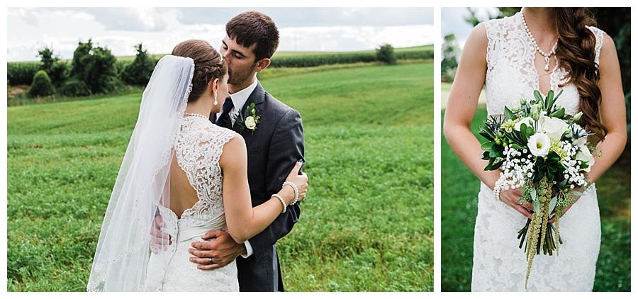 LACE WEDDING DRESS DETAILS - GREEN BAY WEDDING PHOTOGRAPHER