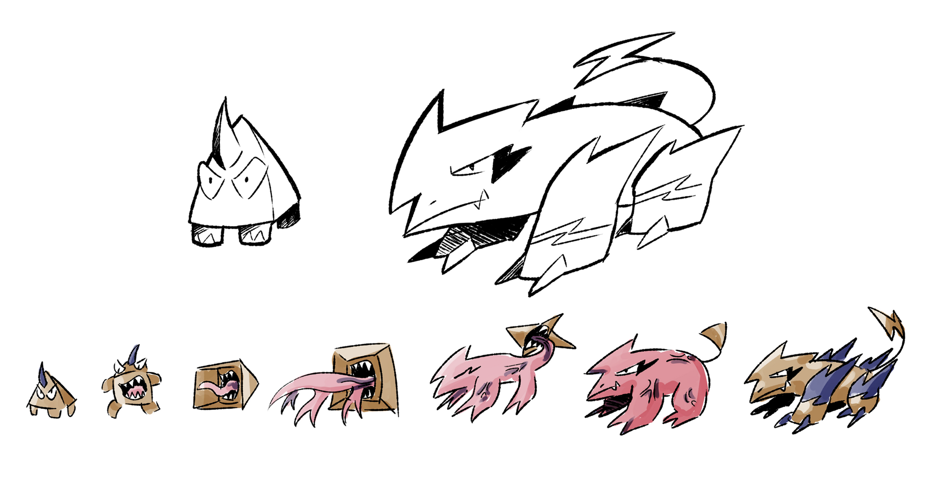 Grotesque Transformation Sequence.png