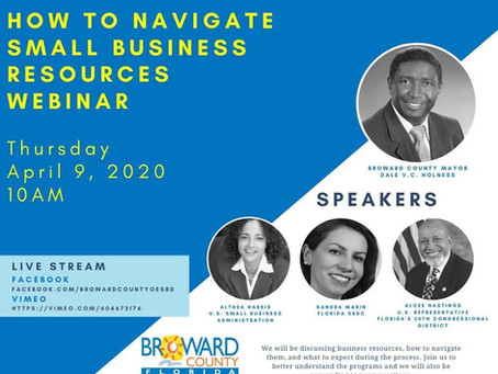 How To Navigate Small Business Resources Webinar - 04/09 @ 10AM