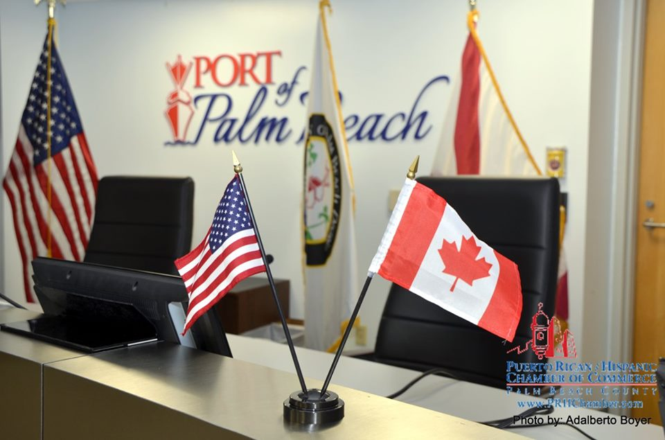 Canada-Florida Trade Mission event hosted by the PRHChamber Leadership & the Port of Palm Beach