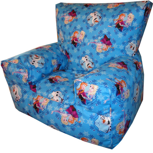 Disneys Frozen Bean Bag Chair AnnaElsaOlaf Blue