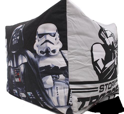 STAR WARS Bean Bag Cube - Storm Trooper - Dark Side - Black