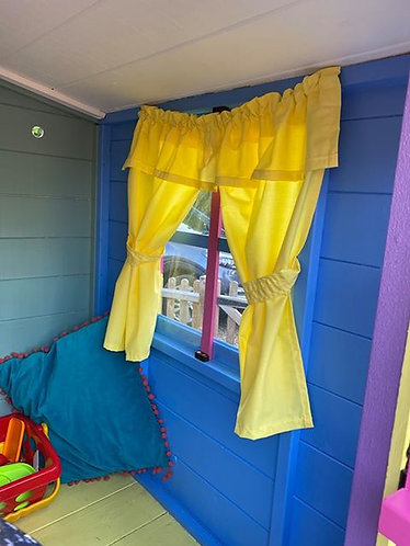 Wendy House, Play House Curtains - Yellow (Open) www.comfycreations.co.uk