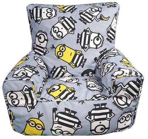 Minions Bean Bag Chair - Grey Jailbird
