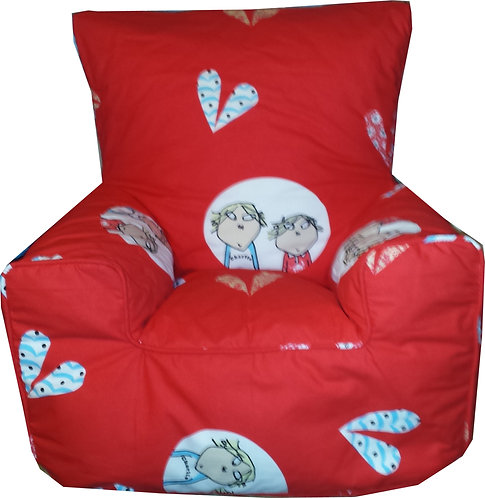 Charlie and Lola Bean bag Chair Children's Kids (Front View)