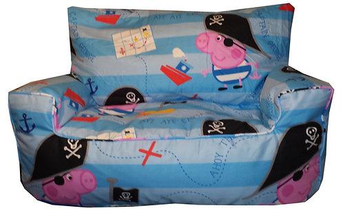 Peppa Pig - George the Pirate Bean Bag Sofa - Blue