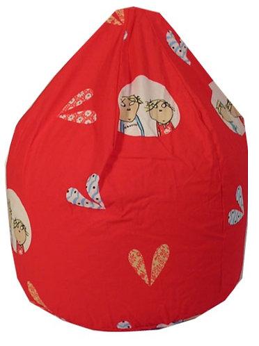 Charlie and Lola Bean Bag - Red
