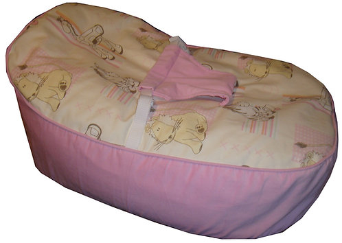 Baby Bean Bag with Harness - Cuddles Pink