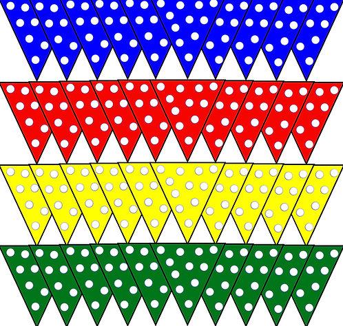 Fabric Bunting Party Garland - Polka Dot Spots