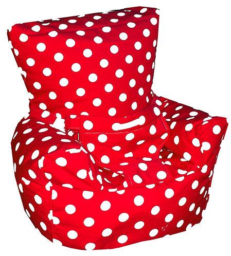 Baby Bean Bag Harness Chair - Polka Dot Spots