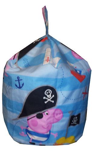 Toddler (Peppa Pig) George The Pirate Bean Bag - Blue