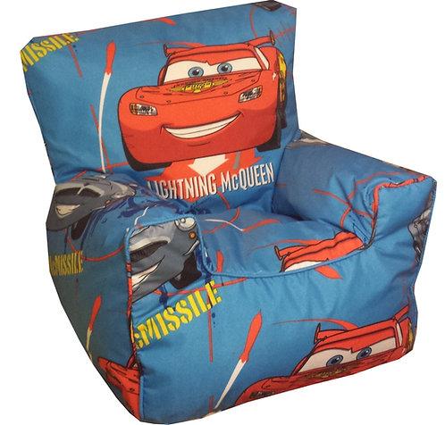 Disney's Cars Lightning McQueen Beanbag Chair Children's Kids