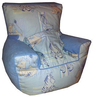 Baby Beanbag Chair with harness Cuddles Blue
