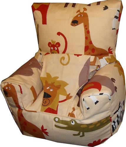 Baby Bean Bag Harness Chair - Roar NATURAL