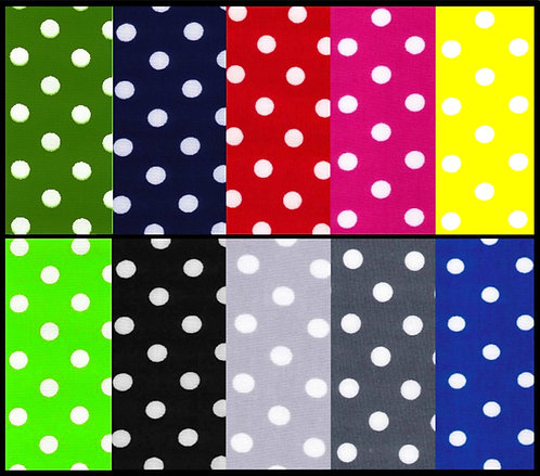 Wendy House, Playhouse Curtains - Polka Dot Spots - Colours