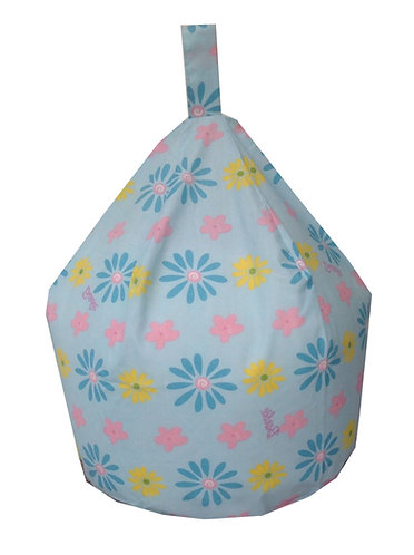 Barbie Bean Bag Large Flowers - Turquoise Blue