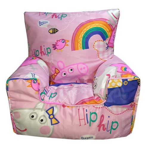 Peppa Pig Bean Bag Chair - Rainbow Pink