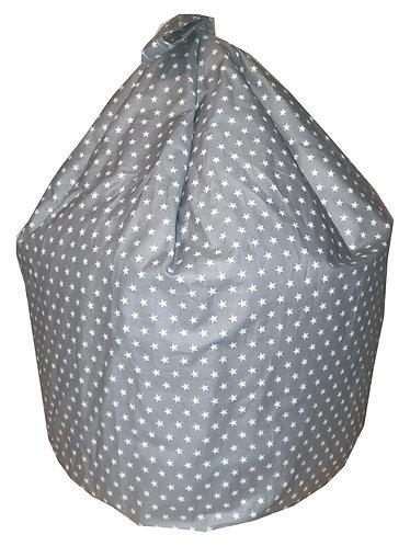 Stars Bean Bag - Gray/Silver