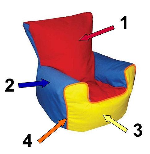 Design Your Own Multi Coloured Childrens Bean Bag Sofa - Medium