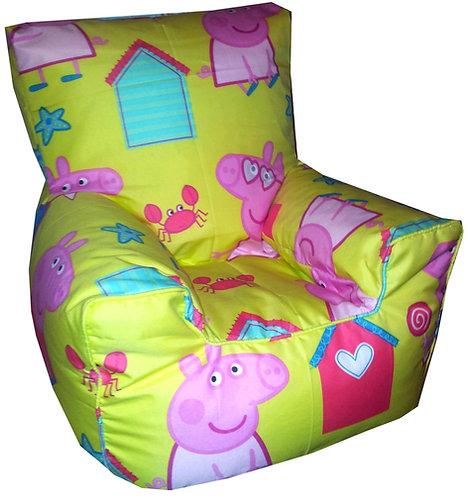 Peppa Pig Seaside Bean Bag Chair Children's Kids (Yellow)