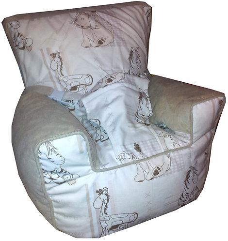 Baby Bean Bag Harness Chair - Cuddles Beige