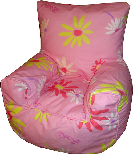 Barbie Large Flowers Bean Bag Chair Children's Kids