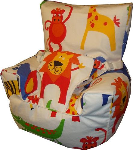 Baby Bean Bag Harness Chair - Roar PRIMARY