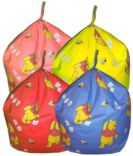 Winnie The Pooh Bean Bag - Red, Blue, Yellow, Salmon Pink
