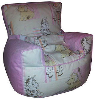 Baby Beanbag Chair with harness Cuddles Pink