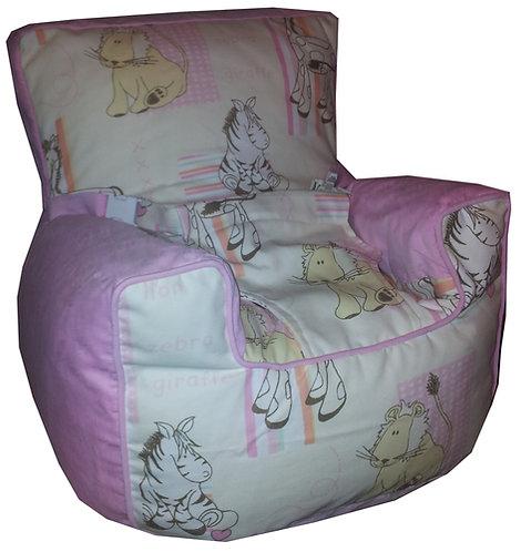 Baby Bean Bag Harness Chair - Cuddles Pink