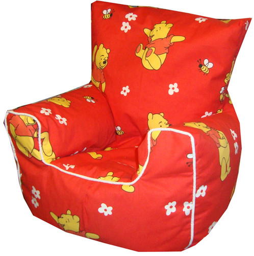 Winnie The Pooh Bean Bag Chair Red