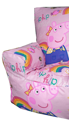 Peppa Pig Bean Bag Sofa - Rainbow Pink