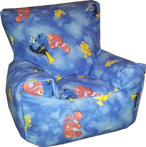 Finding Nemo Dory Children's Bean Bag Chair Blue