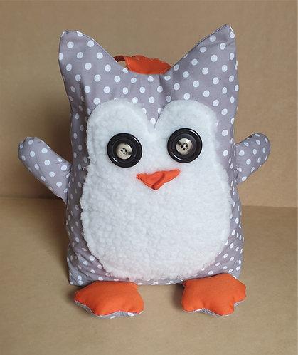 Fabric Door Stop Stopper - Funky Owl - Polka Dot Spots