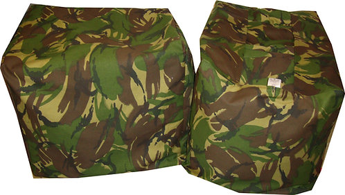 Camouflage Share n Stack Bean Bag Floor Cushions Green