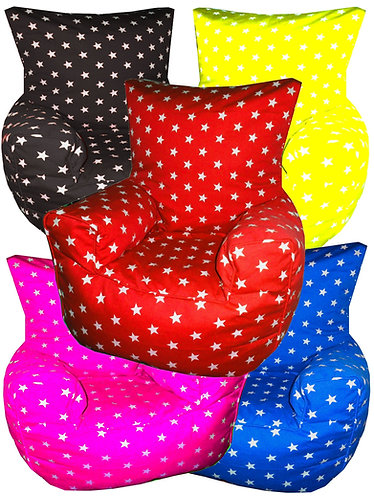 Stars Bean Bag Chair Children's Kids All Colours