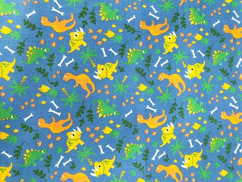 Dinosaur Bean Bag Chair - Tropic Dino - Blue Fabric