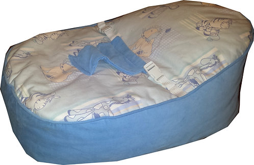 Baby Bean Bag with Harness - Cuddles Blue