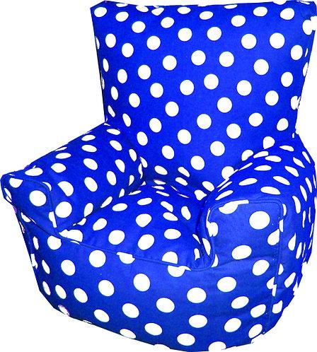 Polka Dot Spots Children's Bean Bag Chair Blue