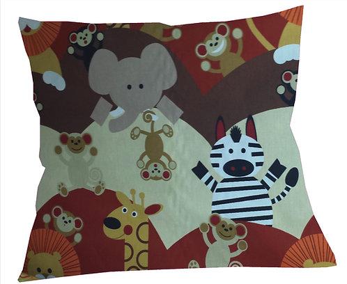 Zoo Animals (Cheeky Monkey) Cushion Cover